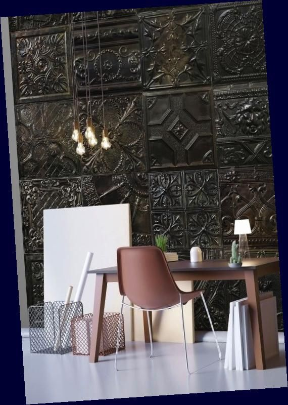 This Is Wallpaper New Tin Tiles Wall Murals Collection By Koziel Ceiling Tiles Accent Wall Victorian Wa In 2020 Tile Accent Wall Tin Tiles Wallpaper Accent Wall