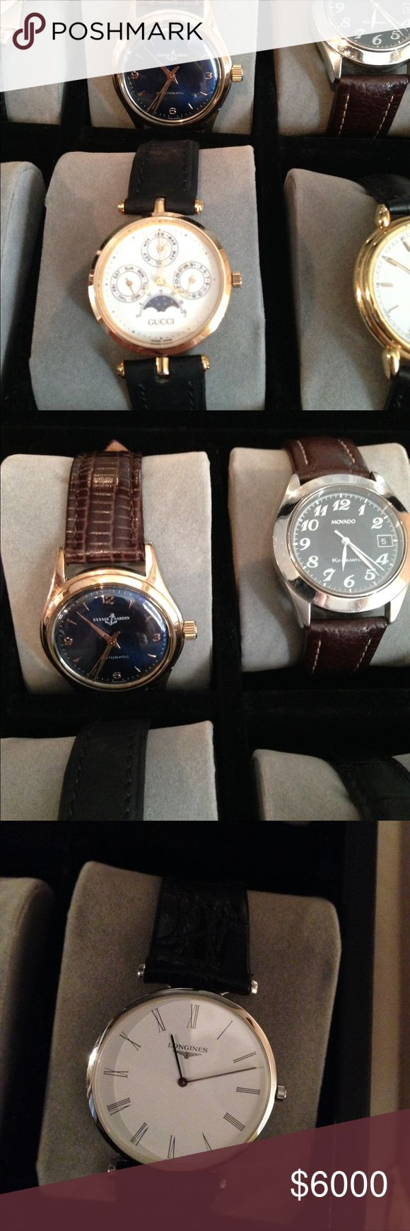 Authentic Iwc,Ulysses nardin,longines , movado! A selection of exquisite watches all authentic please let me know which one you are interested in and I can give you a price! Accessories Watches