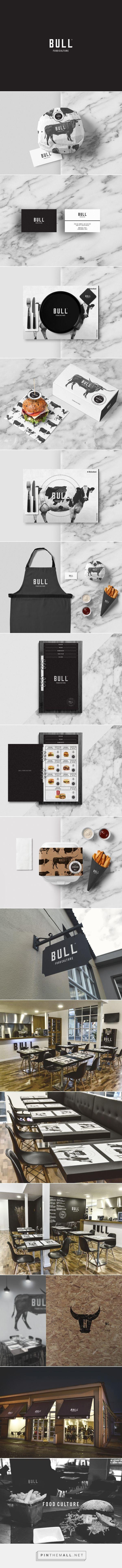 BULL Food Culture Restaurant Branding and Menu Design by Bullseye