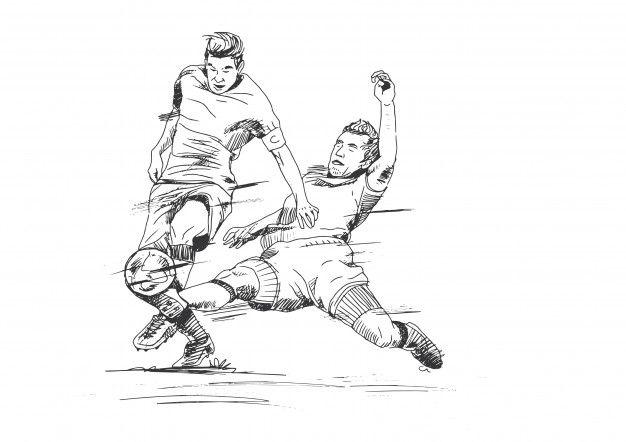 Hand Drawing Soccer Illustration Soccer Drawing Illustration Drawings