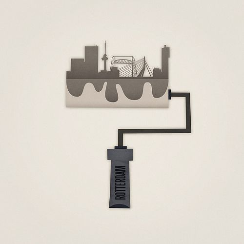 #Rotterdam #cityscape paint roller by Eva Galesloot. #greetingsfromnl