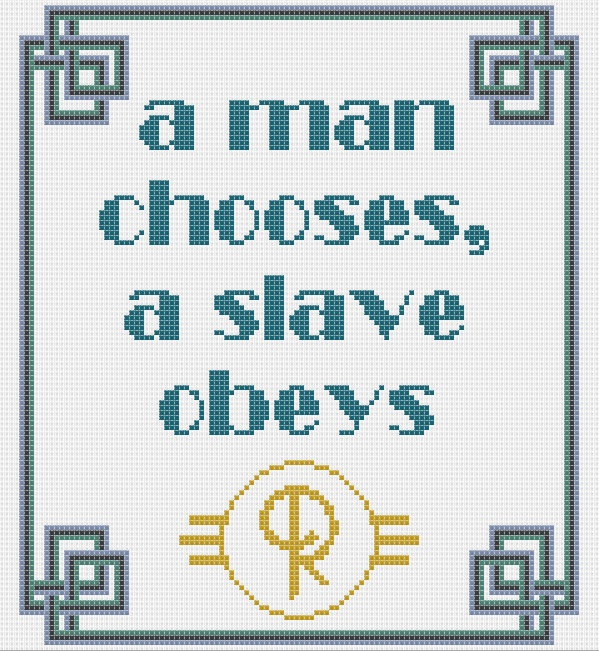 Bioshock quote 'a man chooses, a slave obeys'