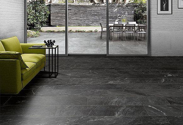 Pavimento effetto pietra Cardoso_Antracite + Grigio Chiaro