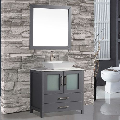 "Found it at AllModern - Tahiti 36"" Single Modern Bathroom Vanity Set with Mirror"