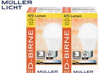 Awesome Aldi S d LED Leuchtmittel von M ller Licht mit drei Jahren Garantie https