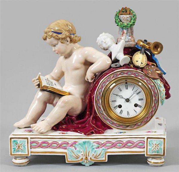 Relógio Antigo de Porcelana                              …