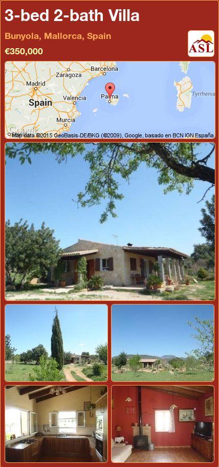 3-bed 2-bath Villa in Bunyola, Mallorca, Spain ►€350,000 #PropertyForSaleInSpain