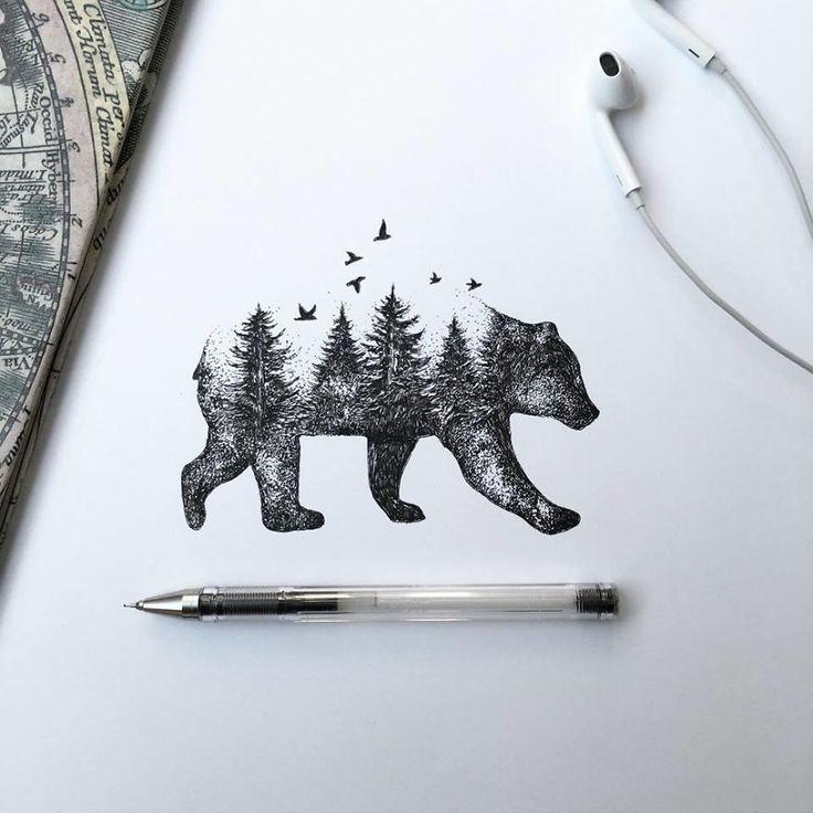Black Pen Illustrations   Bored Panda