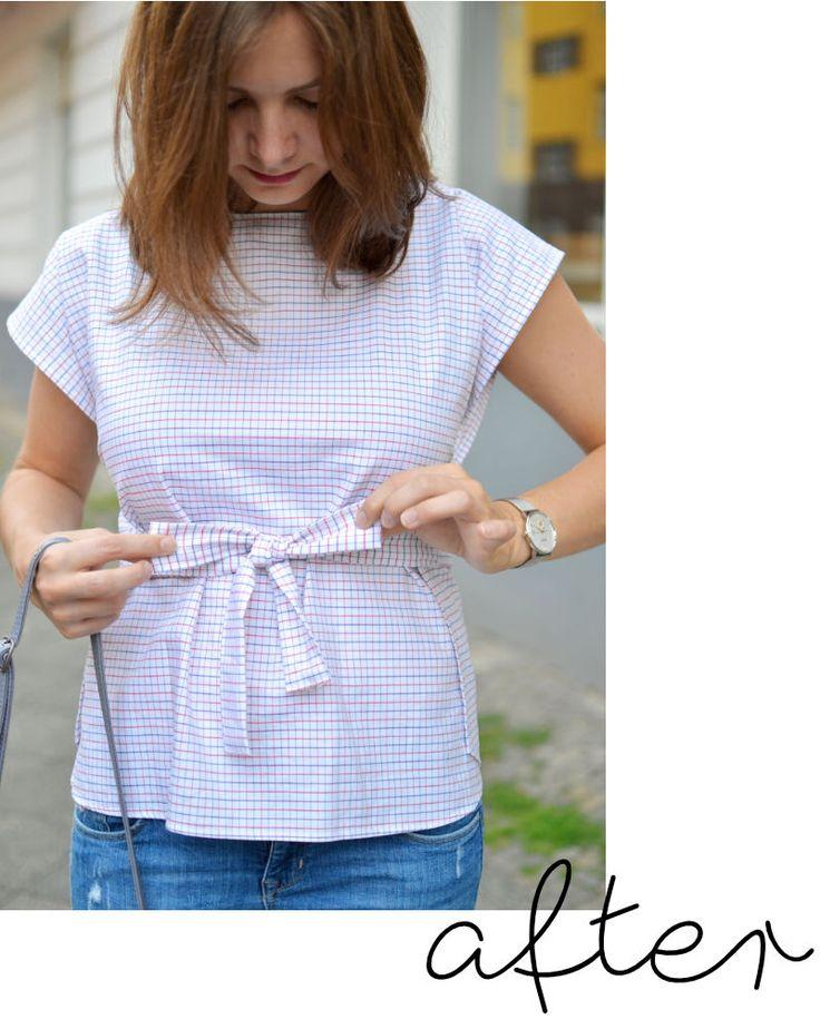 at/least -   #160 | Die Bluse, die mal ein Hemd war
