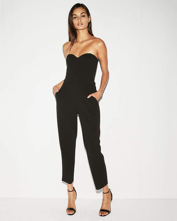 109f89bb4c Express Strapless Sweetheart Neckline Jumpsuit