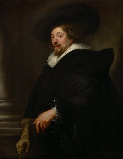 For this late self-portrait, which Rubens is believed to have completed in  the last year of his life, he chose to portray himself not in the  half-length st...