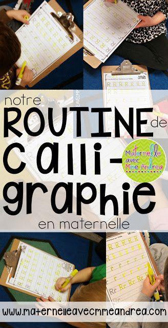 Notre routine de calligraphie | handwriting routine |maternelle | bien former les lettres