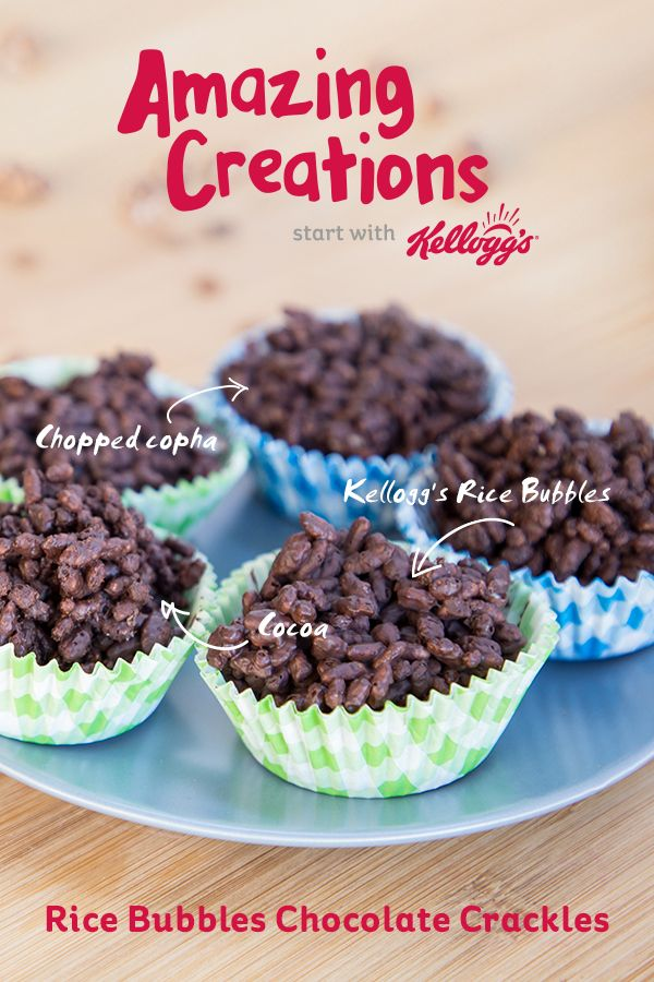 Satiate your sweet tooth with this delicious Chocolate Crackles recipe with coconut using Kellogg's® Rice Bubbles®.  This recipe is perfect for all occasions, from a cheeky afternoon snack to a birthday party or a weekend bonding session with the kids. This is an easy, excellent dessert recipe which can be enjoyed by everyone.