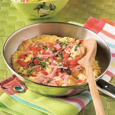 Omelette jambon, fromage et tomate - Recettes - Cuisine et nutrition - Pratico Pratique