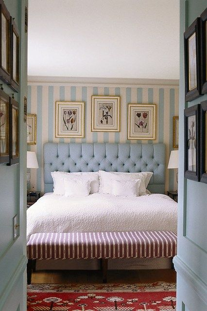 English Blue Stripe Scheme - Bedroom Design Ideas & Images (houseandgarden.co.uk)