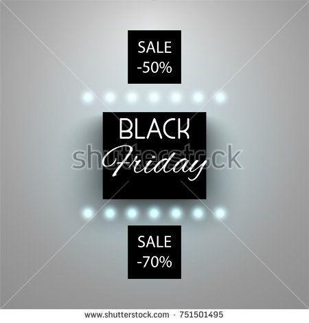 Black friday neon banner sale illustration.