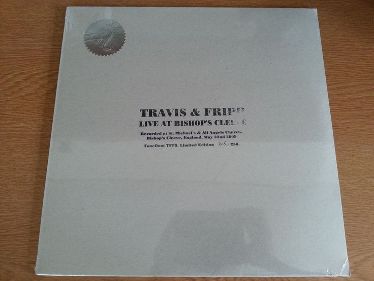 Travis & Fripp Live at Bishop s Cleeve May22nd  Sealed Vinyl LP (King Crimson)