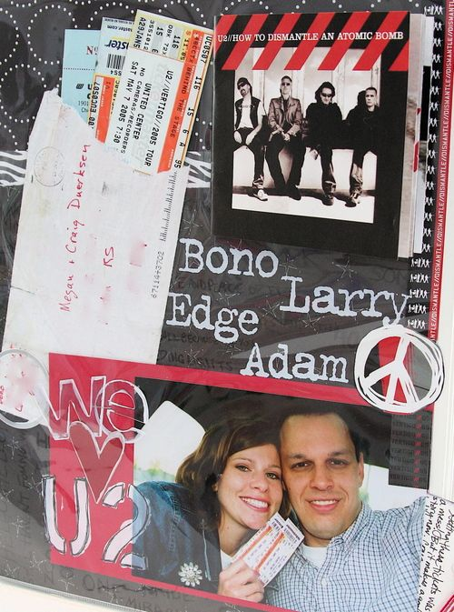 Concert tickets scrapbook page… I want to do something similar for my hunter hayes page with the tickets.