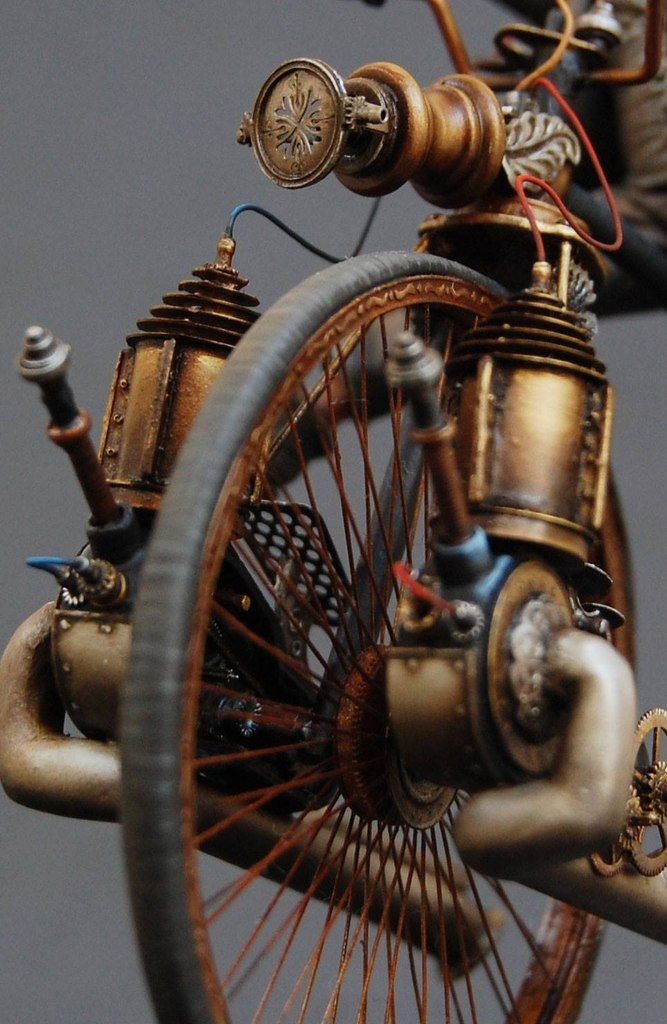 Steampunk bike-Opportunity to open your own shop @http://artisouls.com and be proud of your #art and #handmade beautiful creations!