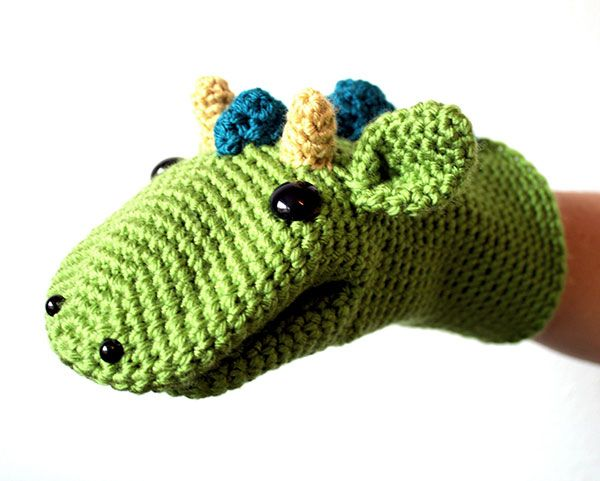 Dragon hand puppet crochet by A la Sascha