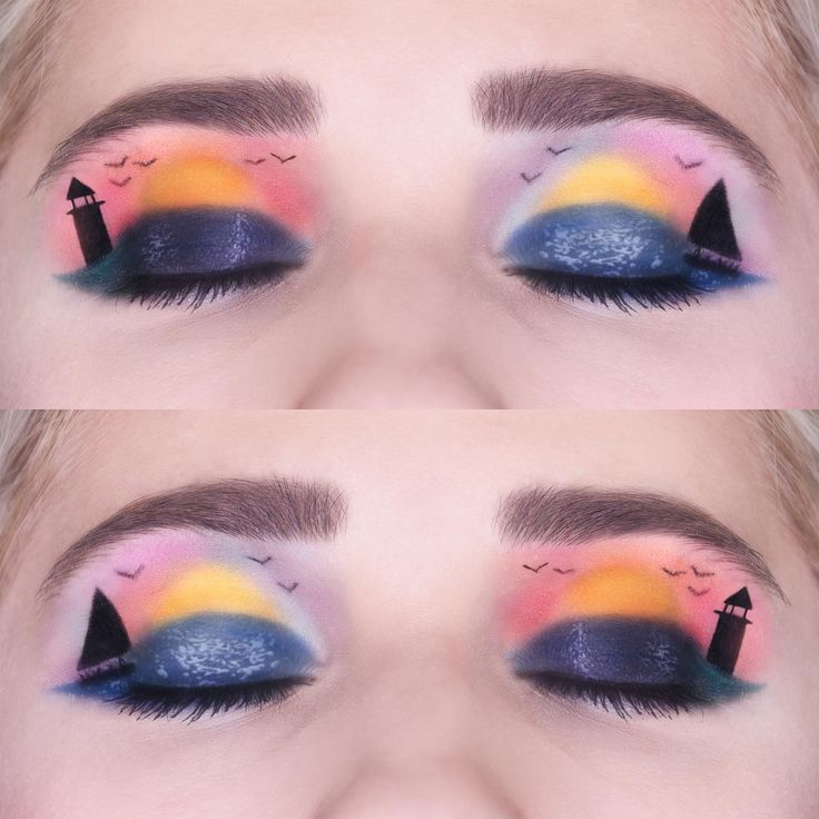Sunset sunrise makeup