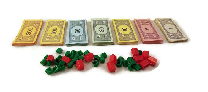 1961 Monopoly Money Vintage Original Parker Brothers USA + 11 Hotels 10 Houses #ParkerBrothers