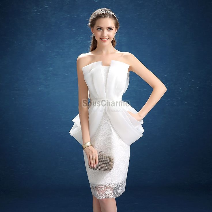 Robe blanche cocktail pas cher