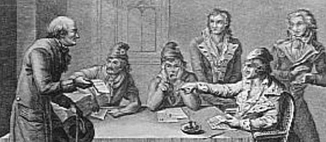 """Le Comité de Salut public (1793-1795). -La Gironde, attachée au principe libéral de la séparation et de l'équilibre des pouvoirs, doit accepter un renforcement de l'exécutif devant l'aggravation de la situation militaire au printemps 1793. Le 6 avril, 9 membres de la Convention, élus pour 1 mois, sont chargés de surveiller et de coordonner l'action des 6 ministres de la Commission exécutive provisoire et de prendre, en cas d'urgence, """"des mesures de défense générale extérieure et intérieure"""""""