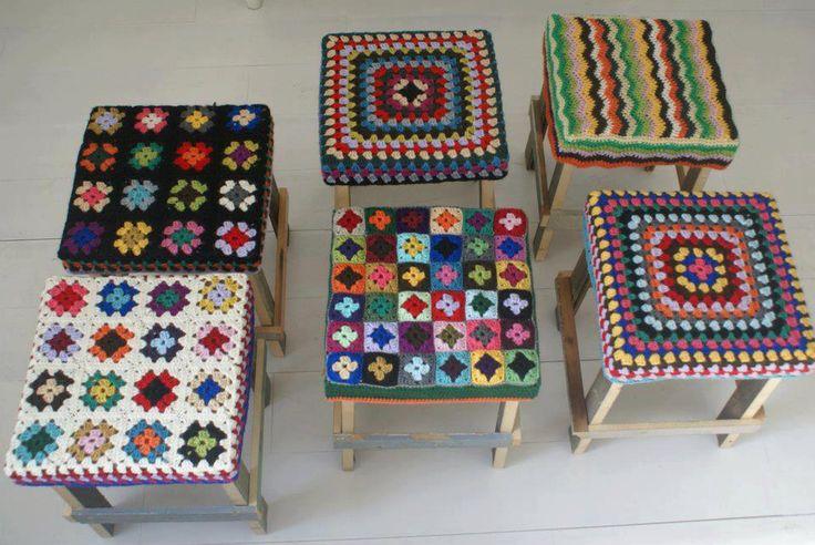 Granny squares seat