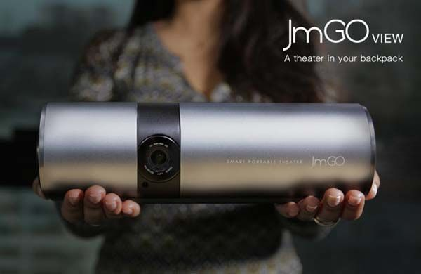 JmGO View is a Smart Portable Projector with Dolby Digital Plus Speakers