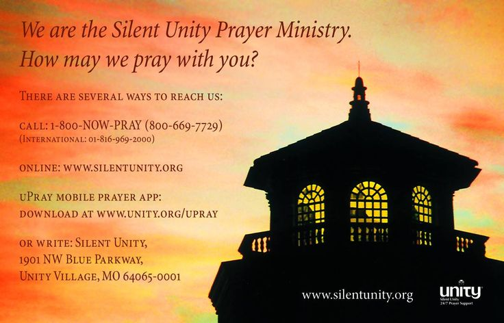 We are the Silent Unity Prayer Ministry. How may we pray ...