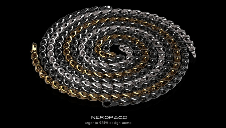 VERTIGO silver 925%  design and handmade in Italy  NEROPACO jewelry design Milano Venezia Vicenza