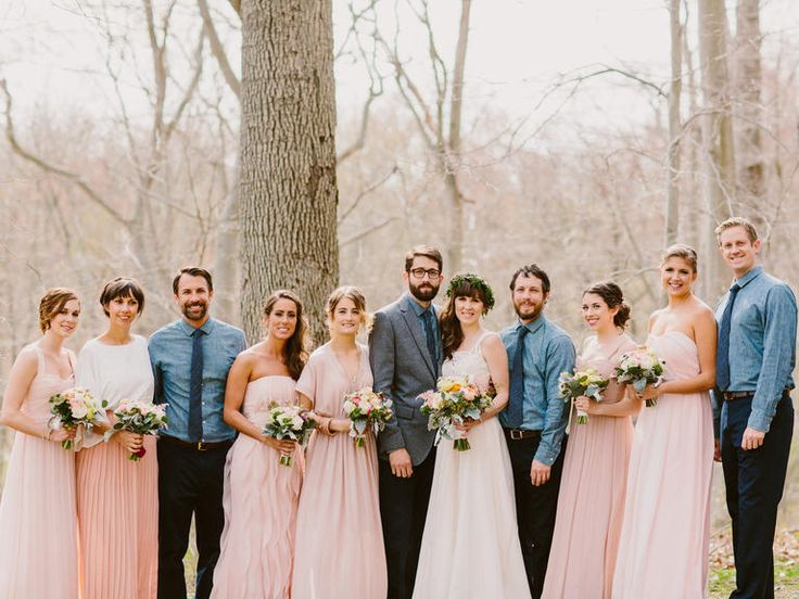 Is a Mismatched Number of Bridesmaids and Groomsmen Okay? | Photo by: Redfield Photography | TheKnot.com