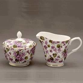 Abundant Violets Sugar and Creamer Set  Product #: 3060203CL  Our Price: $34.97