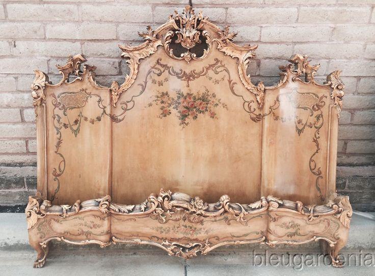 Beautiful Italian Venetian Style Antique Bedroom Set Bed
