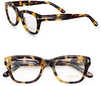 Tom Ford Eyewear Full Rim Square Wayfarer Inspired Plastic Eyeglasses Tom Ford