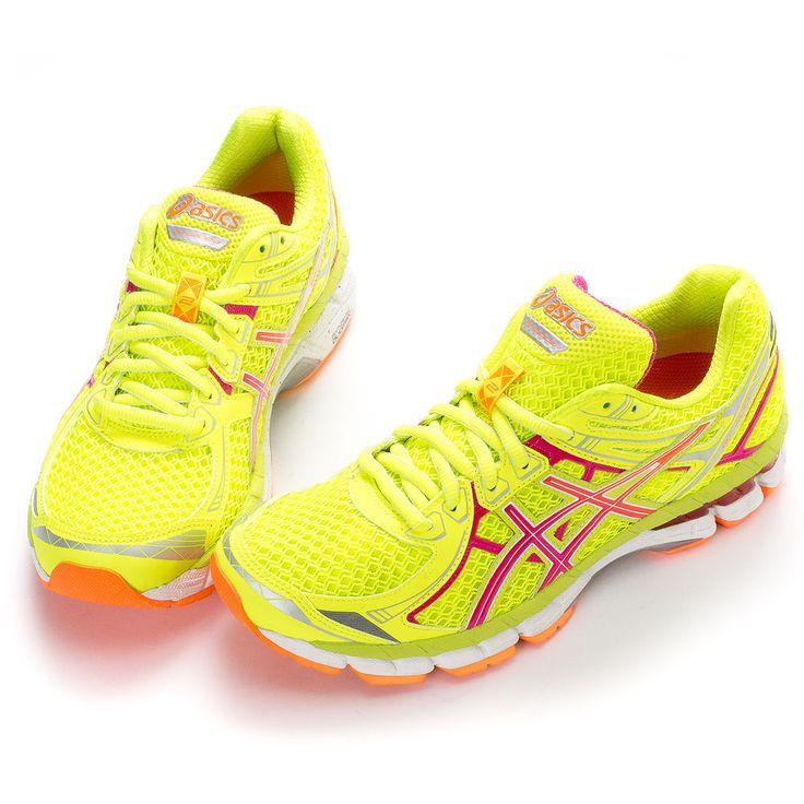 "ASICS Women's ""GT-2000 2 II "" Running Shoes T3P8N-0435 FLASH YELLOW-HOT PINK"