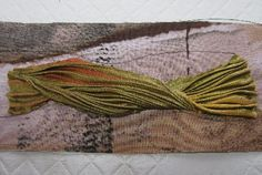 Beading Arts: Shibori ribbon bead embroidered bracelet - part one