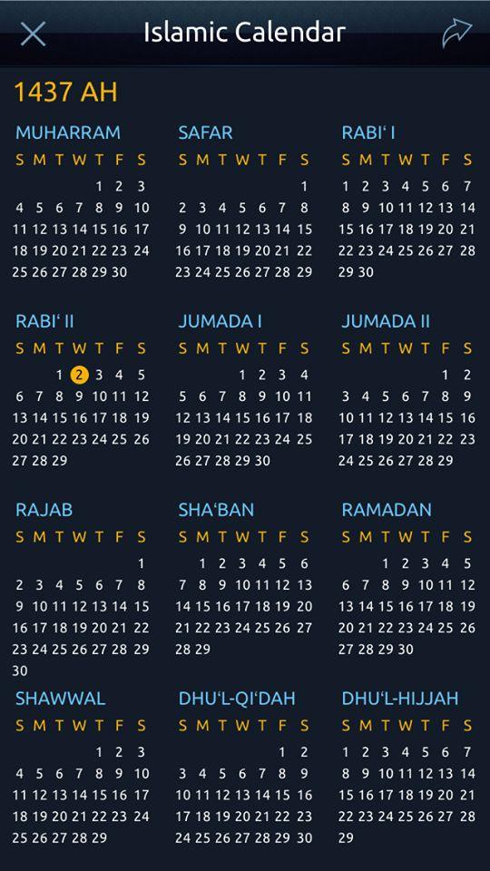 Islamic calendar date today in qatar