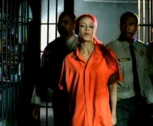 Amazing Woman Orange Prison Chain Side Stock Photo  Image 32958080