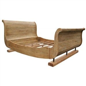 Eskimo Recycled Elm Timber Queen Size Sleigh Bed