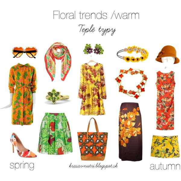 Floral trends / warm by lapetiteamelie on Polyvore featuring Dries Van Noten, Moschino Cheap & Chic, J.Crew, Charles by Charles David, Aspesi, Van Cleef & Arpels, Gemvara, Laura Biagiotti and Forever 21