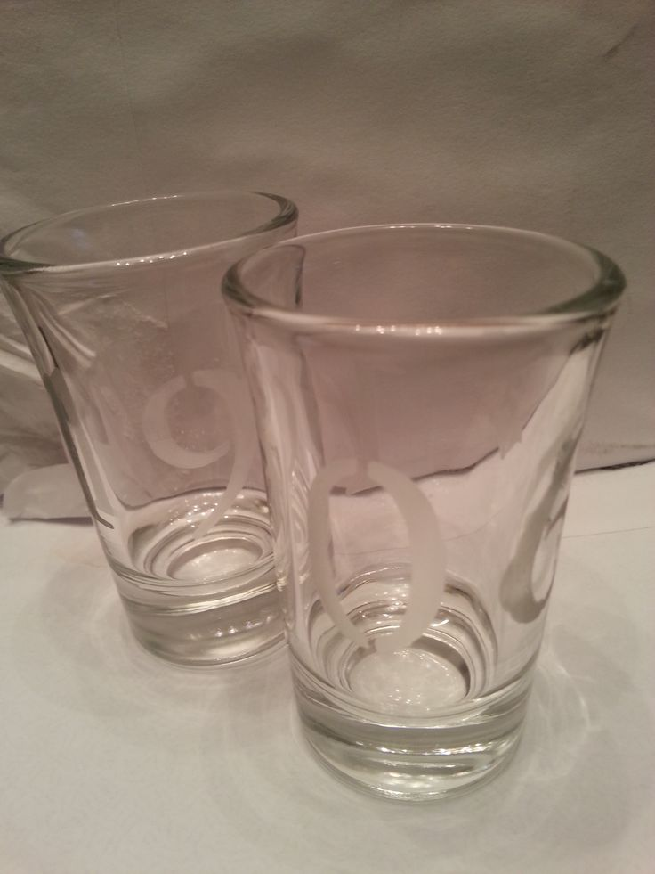 Shot etched glass