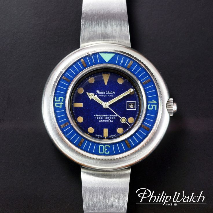 Philip Watch SpA [Italy] Caribbean 2000 Ref. 18350 1000m Diver Automatic Watch #PHILIPWATCHSpAItaly #Diver #caribbean