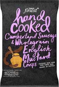 Buy Tesco Finest Hand Cooked Crisps - Cumberland Sausages & Wholegrain Mustard (150g) online in Tesco at mySupermarket