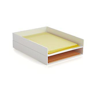 Poppin® White Letter Tray