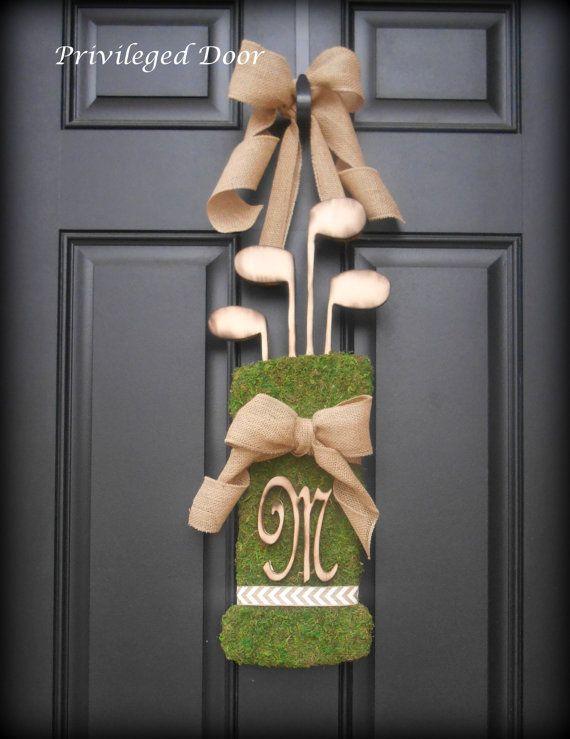 Summer Wreath.  Fall Wreath. Vintage Golf Bag by PrivilegedDoor