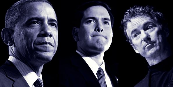 In their own words, here's a look at how President Obama, Sen. Rubio, and Sen. Paul view the following topics: