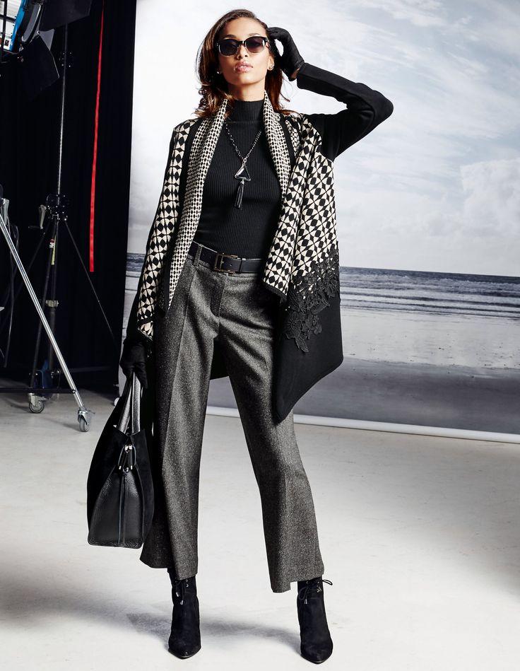 Die modische »Culotte« ist ein absolutes Trendthema und mit der Jacke im Ethno-Style gleich doppelt en vogue.
