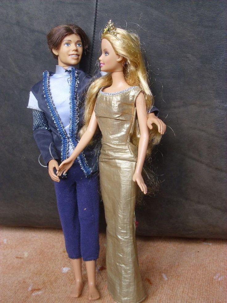 Originale Barbie Puppe Prinzessin Classy mit Funktion + Prinz Ken 1999 + 1975